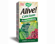 NATURES WAY ALIVE CALCIO VEGETAL 1000MG BONE FORMULA MAX 60 CAPS